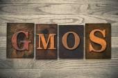 GMOs Wooden Letterpress Theme — Stock Photo