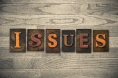 Issues Wooden Letterpress Theme — Stock Photo