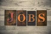 Jobs Wooden Letterpress Theme — Stock Photo