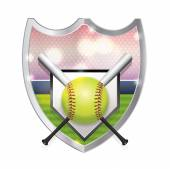 Softball Emblem Illustration — Stock Vector