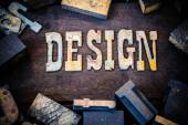 Design Concept Wood and Rusted Metal Letters — Stockfoto