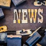 News Concept Rusty Type — Stock Photo #71514273