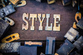 Style Concept Rusty Type — Stock Photo