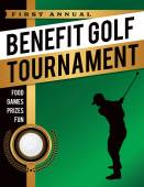 Benefit Golf Tournament Illustration — Vetor de Stock