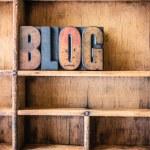 Blog Concept Wooden Letterpress Theme — Stock Photo #73128997