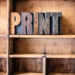 Print Concept Wooden Letterpress Theme — Stock Photo #73129307