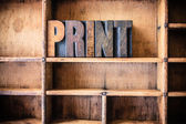 Print Concept Wooden Letterpress Theme — Stock Photo