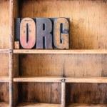 Dot Org Concept Wooden Letterpress Theme — Stock Photo #73133893