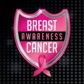 Breast Cancer Awareness Emblem Illustration — Stock Vector