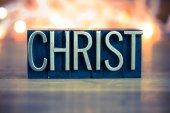 Christ Concept Metal Letterpress Type — ストック写真