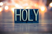 Holy Concept Metal Letterpress Type — Stock Photo