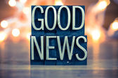 Good News Concept Metal Letterpress Type — Stockfoto