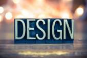 Design Concept Metal Letterpress Type — Stock Photo