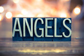 Angels Concept Metal Letterpress Type — Stockfoto