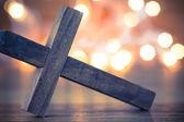 Croix chrétienne en bois — Photo