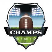 American Football Champs Abzeichen Illustration — Stockvektor
