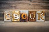 EBook Concept Letterpress Theme — Stock Photo