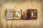 Hate Concept Rusted Metal Type — Stock Photo