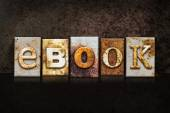 EBook Letterpress Concept on Dark Background — Stock Photo