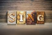 Sing Concept Letterpress Theme — Stock Photo