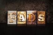 Fads Letterpress Concept on Dark Background — Stock Photo