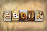 EBook Concept Rusted Metal Type — Stock Photo