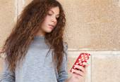 Beautiful woman with smartphone — Stock Photo