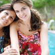 Teenager daughter and her mother hugging — Stock Photo #78500832