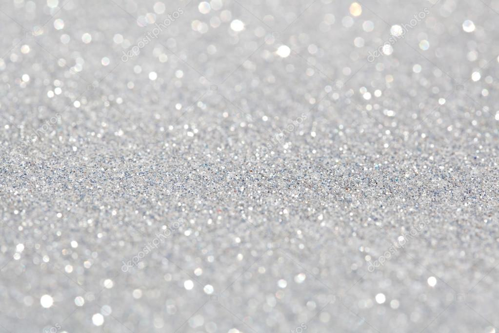 Stock Photo Silver Glitter Background on Snow 1 3 Inches