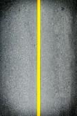 Yellow line on road — Stock Photo