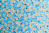 Flowers pattern on fabric background — Stock Photo