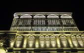 Building decorated with lights — Foto Stock