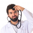 Doctor over white background — Stock Photo #57385275