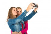 Student women making a selfie — Stock Photo