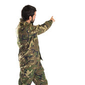 兵士ポインティング バック — ストック写真