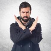 Man doing NO gesture — Stock Photo