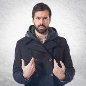 Uomo che fa il gesto di sorpresa — Foto Stock