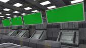 SCIFI futuristic corridor — Foto Stock