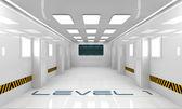 未来派走廊 — 图库照片