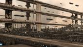 Futuristic city — Stock Photo