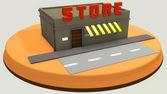 Mini store — Stock Photo