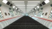 Futuristic corridor — Stock Photo