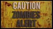 Caution zombies alert — Stock Photo