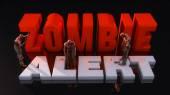 Zombie alert sign — Stock Photo