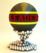 Leadership spheres concept — Stock Photo