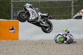 Driver EUGENE LAVERTY. ASPAR MotoGP TEAM. — Stock Photo