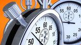 橙色背景上的秒表 — 图库照片