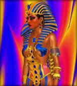 Cleopatra or any Egyptian Woman Pharaoh. Modern digital art fantasy with Egyptian styles. — Stock Photo