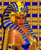 Cleopatra or any Egyptian Woman Pharaoh. Modern digital art fantasy with Egyptian styles. — Stock Photo