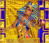 Cleopatra or any Egyptian Woman Pharaoh. Modern digital art fantasy. — Stock Photo